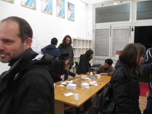 The participants at work