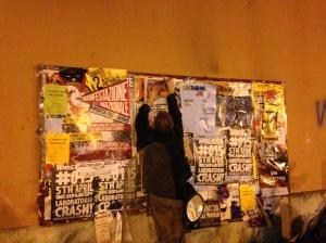 Distributing invitations in Bologna...