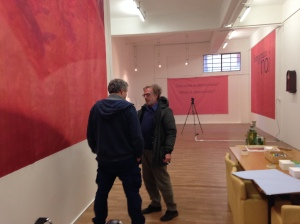 Pier Luigi Tazzi visiting Studio Cloud 4 on friday.